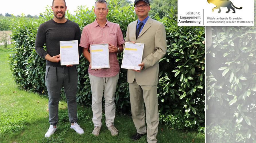 Mittelstandspreis Ba-Wü. 3 Unternehmerrunden-Mitglieder erhalten Auszeichnung
