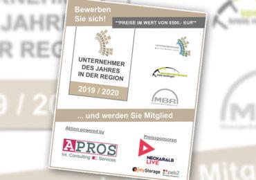 'Unternehmer des Jahres in der Region Reutlingen 2019/2020'