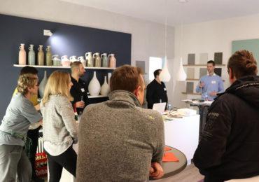 Netzwerktreffen und Vortrag zu Wohngesundheit B&B malerhandwerk Eningen. Gesunder Austausch mit Gästen des Gesundheitsforum Region Reutlingen.